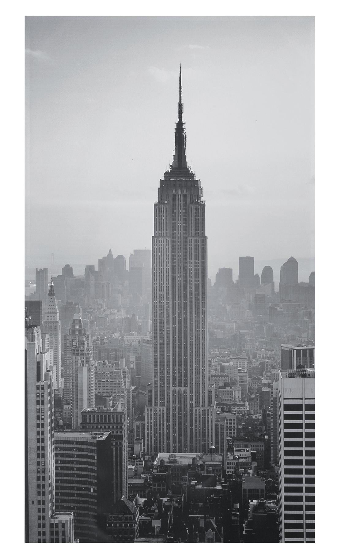 empire state building manhattan new york leinwand schwarz wei neu ovp ebay. Black Bedroom Furniture Sets. Home Design Ideas